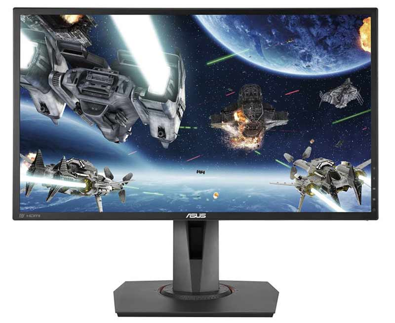 "ASUS MG248QE Gaming Monitor -24"" FHD (1920x1080), 1ms, 144Hz, DisplayWidget, Adaptive-Sync(Free-Sync), Extreme Low Motion Blur"