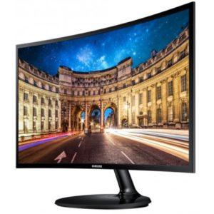 Moniteur Samsung incurvé 24 pouces Noir Série 3 Full HD (LC24F390FHMXZN) - LC24F390FHMXZN