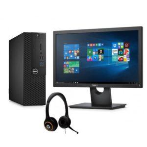 Pack Ordinateur de bureau Dell OptiPlex 3050 + Ecran E1916HV + Micro-Casque - IrisBu006