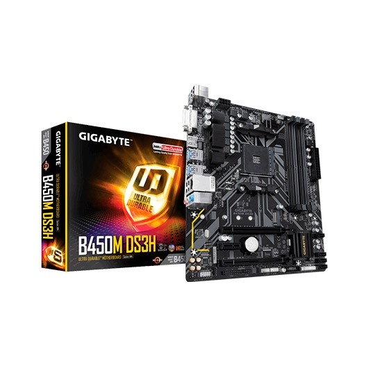 Gigabyte B450M-DS3H AMD Ryzen Socket AM4