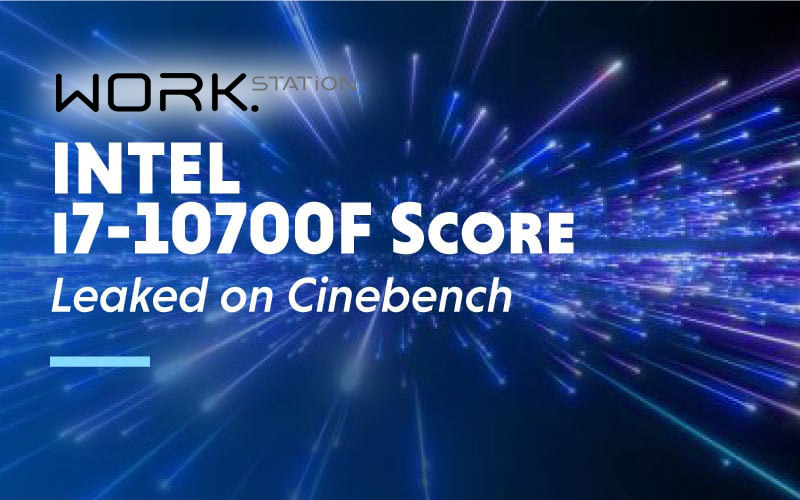 Le score Intel i7-10700F a fui sur Cinebench
